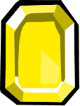 Square Yellow Gem