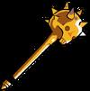 63 Gold Skull Mace