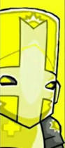 Classic image of the Yellow Knight from 2007 BETA Castle crashers