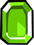 Square Green Gem