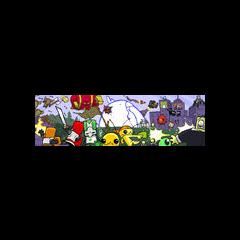 Antiguo Artwork en la que aparecen personajes de Castle Crashers y Alien Hominid