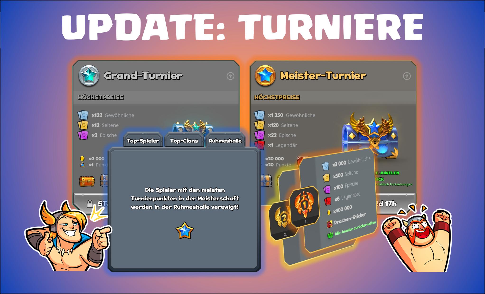 Update-Turniere