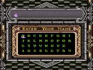 Super Castlevania IV - Name Entry Screen - 01