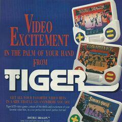 Volante publicitario de videojuegos Tiger LCD.