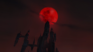 Blood moon over dracula's castle