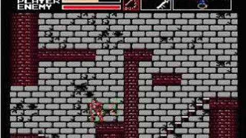 Akumajou Dracula Vampire Killer MSX2(final stage)