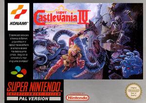 Super Castlevania IV - cubierta europa