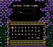 Dracula's Curse - Name Entry Screen - 01