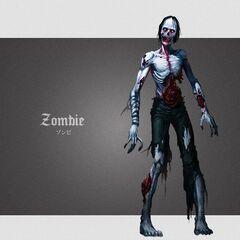 Ilustración oficial de zombie para <i><a href=