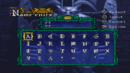 Symphony of the Night - Name Entry Screen - 02