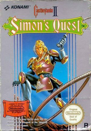 Castlevania II Simon's Quest - cubierta europa