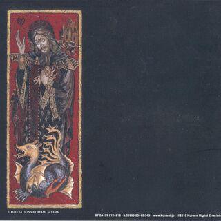 Contraportada del cuadernillo, con una representación