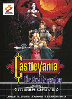 Castlevania The New Generation - cubierta europa