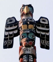 Thunderbird on Totem Pole
