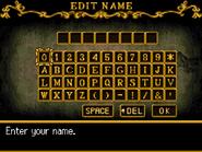 Order of Ecclesia - Name Entry Screen - 02