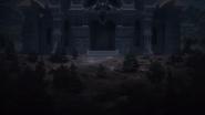 The castle's front door