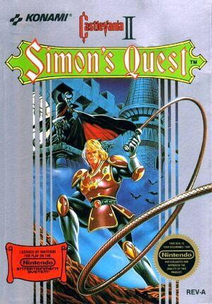 Castlevania II Simon's Quest - cubierta eeuu