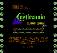 Castlevania Bloodmoon Title