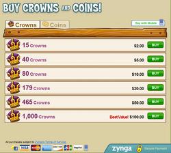Buy crowns
