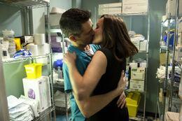 Connie and Sam kiss