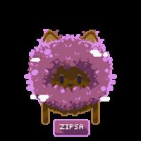 Zipsa button