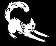 Белое небо котенок