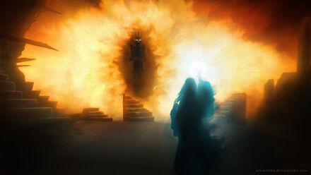 Galadriel vs sauron by amarzbar-d8aom79