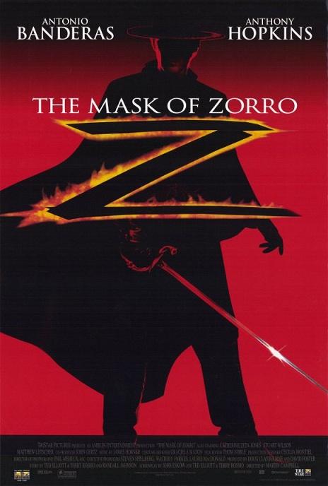 The portrayal of zorro in the 1998 movie the mask of zorro