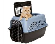 Cat carrier-front and top openings