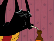 Major Pepperidge drinks from that Root Beer bottle