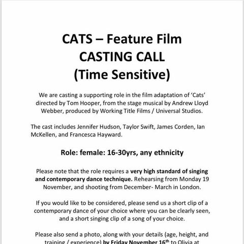 November Casting Call