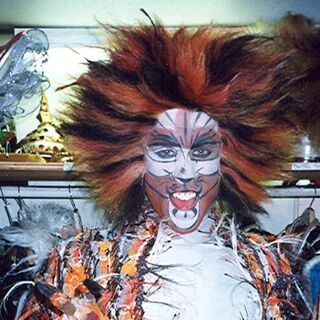 Keith Edward Wilson as Macavity backstage on Broadway.