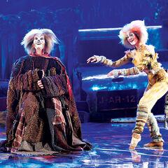 Richard Woodford as Gus and Angela Kilian as Jellylorum