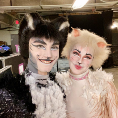 as Mistoffelees with Loretta Williams as Victoria
