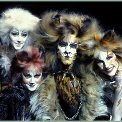 David Hibbard (center) as Rum Tum Tugger on Broadway from his <a rel=