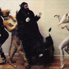 Original London Cast promo - Jemima, Macavity, Bustopher Jones, and Victoria as a mouse.