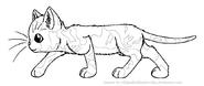 Tortoiseshell Warrior Lineart by WildpathOfShadowClan