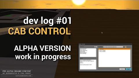 Dev log 01 Cab Control in two minutes