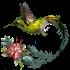 Колибри с цветочком