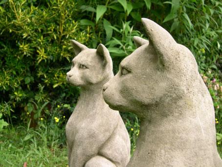 Genial Classic Pair Of Cats Garden Statue Ornament 6 1