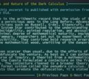 On the Origins and Nature of the Dark Calculus