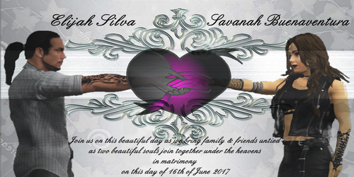 Eli & Savanah Wedding Invitation