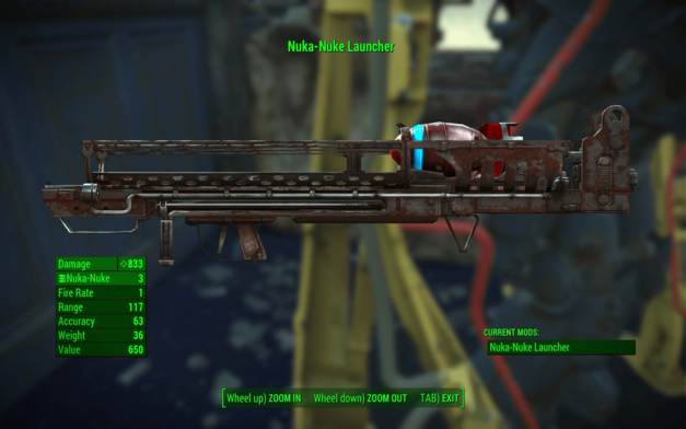 fallout 4 nuka-nuke launcher Fat Boy weapon