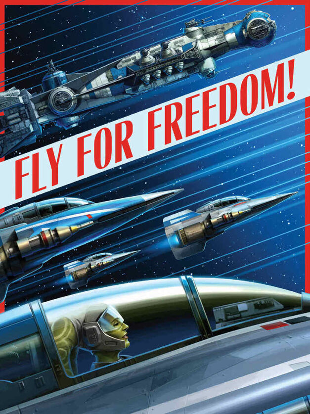 Star Wars propaganda poster Fly For Freedom
