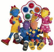 Tweenies around the Tweenie Clock