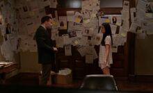 S04E01-Holmes Watson evidence wall