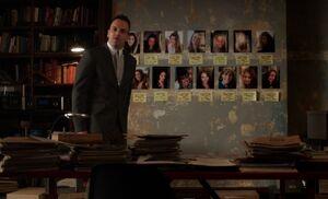 S03E12-Holmes evidence wall