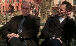 S02E23-Sherrington and Sherlock on bench
