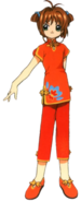 Traditional Orange Chinese Outfit