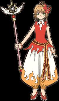 Flame Harem Costume